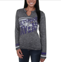 Baltimore Ravens Majestic Women's Gametime Gal V-Neck Long Sleeve T-Shirt Black