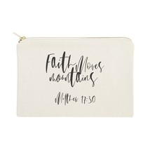 The Cotton & Canvas Co. Faith Moves Mountains, Matthew 17:30 Cosmetic Bag - $14.99
