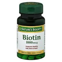 Nature's Bounty Biotin 1000 mcg Vitamin Supplement 100 Tablets - $66.00