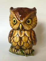"Inarco Owl Candle Holder Vintage Ceramic Japan E-4617 Retro Brown Amber 6"" - $19.00"