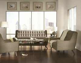 Mid-Century Modern Living Room Couch Set NEW Gray Chenille Sofa & Lovese... - $1,541.73