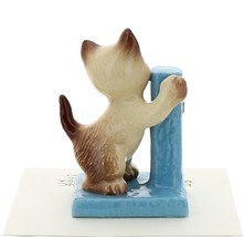 Hagen-Renaker Miniature Cat Figurine Siamese Kitten at Scratching Post image 3