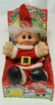 Santa Claus Fairy Tale Troll Doll 1992 Music Lights Vintage 90s Christma... - $197.99