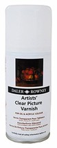 Daler-Rowney Artists' Clear Picture Varnish Aerosol 150 ML both oil and acrylic - $22.44