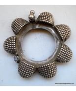 vintage antique ethnic collectible tribal old silver bangle bracelet india - $751.41