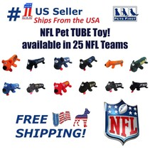 NFL DOG TOY - Licensed Tube Toy. Soft Plush with 2 inner Squeakers. 25 N... - $15.99