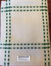 ZWEIGART's Hearthside Afghan 14 ct Cross Stitch Christmas Green  48 X 55 Rare - $58.85