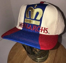 Vtg London Monarchs 90s 100% Wool Reebok Hat Cap Snapback World League Pro Team - $46.95