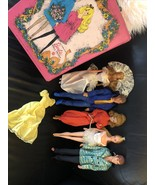 1970 Barbie,1968 Malibu Ken,1969 Talking Ken,1981 Magic Curl 1975 Baller... - $123.74