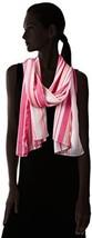 Calvin Klein Womens Hibiscus Pink Printed Shadow Stripe Sheer Scarf Wrap Shawl - $15.00