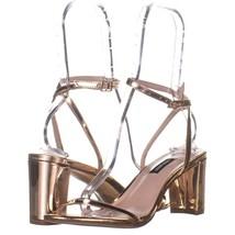 Nine West Provein Ankle Strap Block Heel Sandals 688, Pink, 8.5 US - $25.91