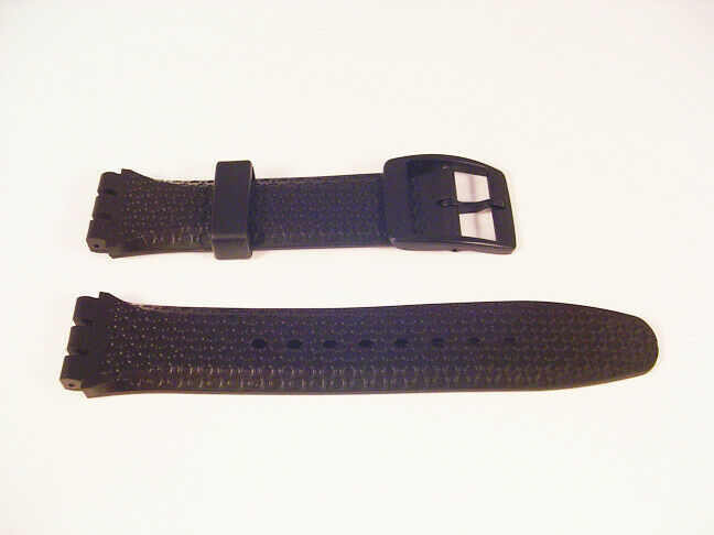 Primary image for For SWATCH CHRONOGRAPH New Mens Watch Strap Rubber/PU Band 19mm / 22mm Black S44