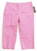 Lauren Ralph Lauren Active Golf Pink & White Gingham Pants Women's NWT - $59.99
