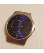 Skagen Denmark Men's Titanium Ultra Slim Blue Dial Analog Watch 233LTTNN  - $35.00