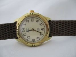Timex Indiglo Women's Water Resistant Watch Analog Date Indicator Leather - $48.00
