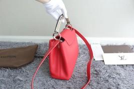 100% Authentic Louis Vuitton CAPUCINES MM Bag Red Taurillon Python image 2