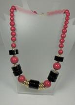 Trifari Red Black & Gold Necklace - $12.86
