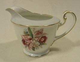 Noritake 5049 Vintage Cream Pitcher 6in x 4in x 4in China Gold Rim - $23.53