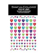 Sinful Colors Pick Up Lines Nail Stickers (87 Stickers) No Dry Time  - $7.99