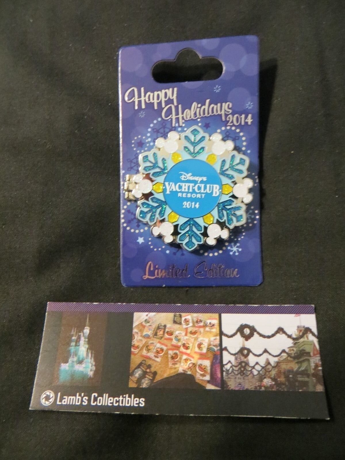 Primary image for Disney 2014 Happy Holidays Donald Yacht Club Resort Snowflake pin Christmas LE