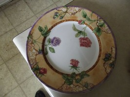 222 5th Tuscany Rose dinner plate 7 available - $13.81