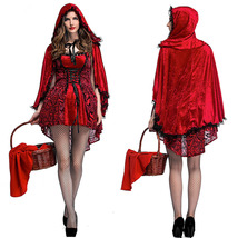 Adult Ladies Red Little Red Ridding Hood Cosplay Costume Halloween - $38.75