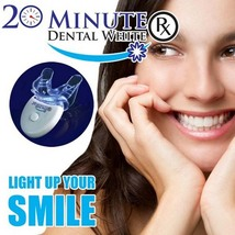 20 Minute Dental White RX Teeth Whitening Kit with Led Light Personal To... - $9.49