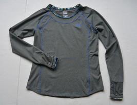 The North Face Top L Long Sleeves T Shirt Athletic Sports Gray Thumb Holes - $21.95