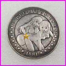 Sexy girl Hobo Nickel Coin 1881 commemorative free shipping #114 - $19.99