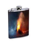 Volcanoes D10 Flask 8oz Stainless Steel Hip Drinking Whiskey - $13.81