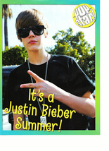 Justin Bieber teen magazine pinup clipping it's a Justin Bieber Summer p... - $3.50
