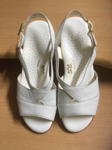 SAS Tripad Comfort Duo Women White Leather Buckle Slingback Sandal Shoe ... - $33.42