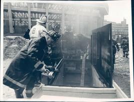 Photo Ventilator Shaft Passageway Firefighters Battle Train Bowdoin 7x9 - $18.55