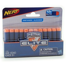 Hasbro Nerf N-Strike Elite Foam Darts 12 Pack A0350 Nip - $6.00