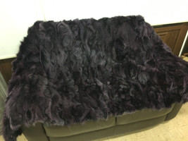 Brand New Purple Fox Fur Blanket  Available in Throw Twin Queen or King ... - £174.70 GBP+