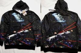 Star Wars Space Battles Millennium Falcon Costume Zip up Hoodie Jacket Shirt M - $14.99