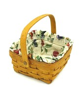 Vintage 1995 Longaberger Medium Berry Basket with Liner and Protector - $19.75