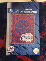 Los Angeles Clippers NBA Woven Jacquard Throw Blanket - $19.30