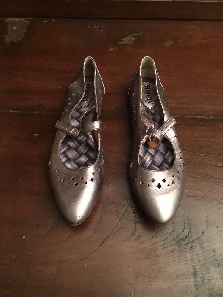 Born women Leather Gemma flats Pewter SZ  35.5/5m
