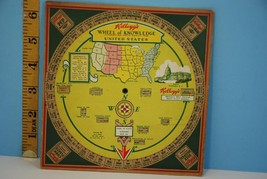 Beautiful 1931 Kellogg's Wheel of Knowlege Facts About the United States - $18.49