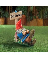 Gnomes Sleeping On Strike Garden Gnome Statue - $20.39