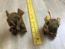 LIKE NEW Set of Two Folkmanis Plush Field Mice Finger Puppets - $3.50