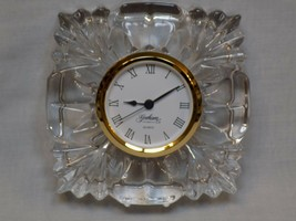 NEW Gorham Esprit Small Lead Crystal Clock Square Desk Paperweight Small Decor - $24.98