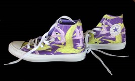 Converse Trendy Neon Chartreuse Purple Birds Of Paradise Hi Top Shoes Nwt Disc - $50.99
