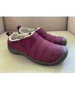 KEEN Cush Howser Burgundy Quilted Fleece Lined Slippers Slip Ons Womens ... - $23.05