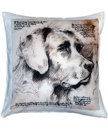 Pillow Decor - Labrador Dog Pillow 17x17 - $49.95