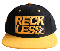 Young & Reckless Y&R LA Mens Black Yellow Snapback Baseball Hat New with Tags