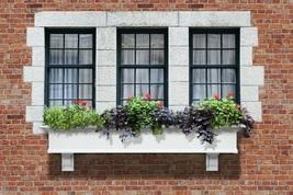Window Plant Box 4 Feet Classic White Wall Mount Flower Display Decorati... - $140.99