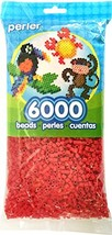 Red Perler Beads for Kids Crafts, 6000 pcs - $12.58