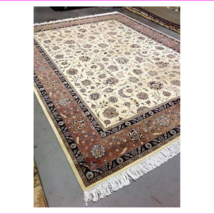 Oriental Design All Over Wool Hand Made 9 x 12 - $1,639.01